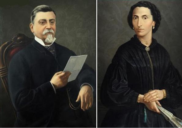 I ritratti del marchese Nicola de Felici e della sua consorte Concetta Monaco La Valletta, in mostra a Pianella