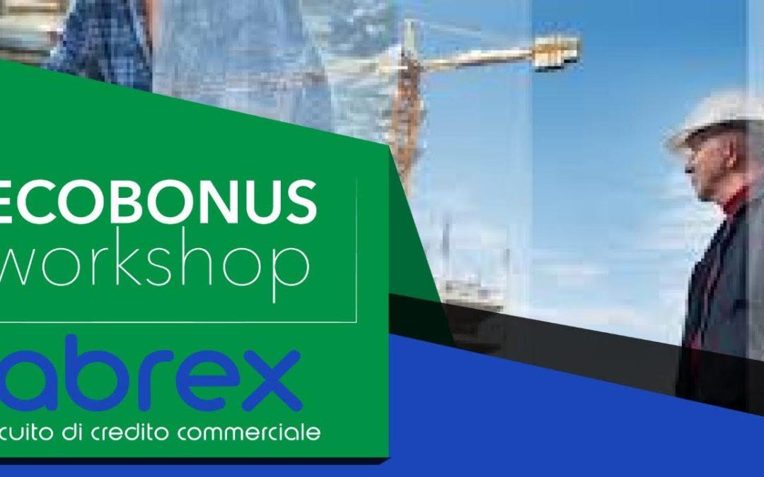 OBIETTIVO ECOBONUS, ABREX METTE IN RETE LE IMPRESE EDILI  Le imprese edili, in Abruzzo, si organizzano in rete per essere pronte a cogliere le opportunità dell'ecobonus 110%, ieri il workshop presso gli uffici ABREX a Cheti