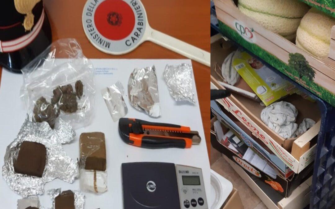 PENNE: SOTTO CONTROLLO LO SPACCIO DELL'AREA VESTINA  Arrestato un 52enne che nascondeva sostanze stupefacenti fra le cassette di frutta