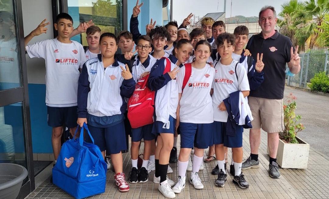 PENNE: TORNEO BASKET  RIVIERA DELLE PALME  I cuori in alto per i ragazzi under 14 Basket Penne