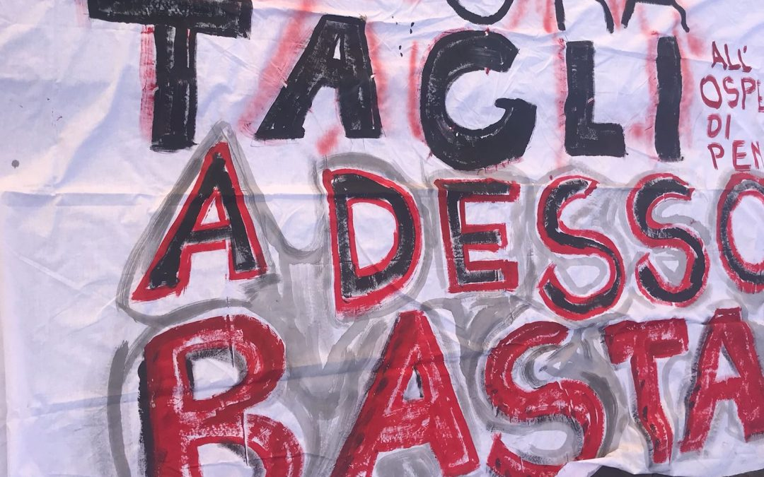 PENNE: IL SAN MASSIMO ENTRA IN CAMPAGNA ELETTORALE ?  La protesta che si è svolta in piazza in difesa dell'ospedale