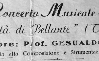ABRUZZO: LA STORIA DELLA BANDA DI BELLANTE  Maestro Gesualdo Coggi, la festa di S. Rocco a Treglio,1949